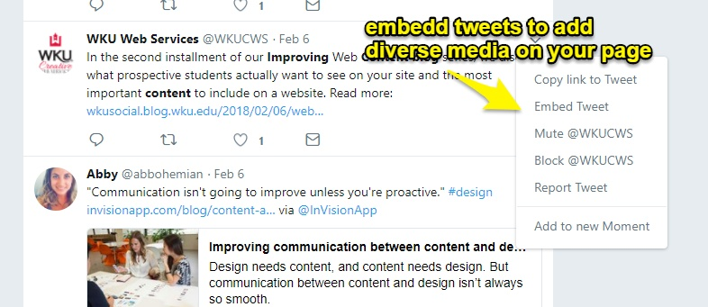 How to embed tweets into wordpress